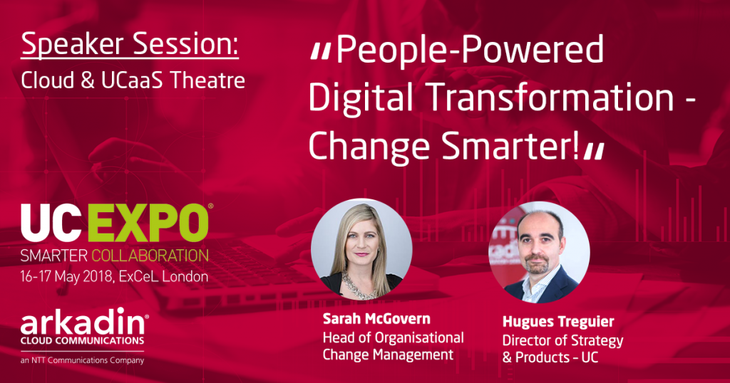 Sarah McGovern will speak about People-powered Digital Transformation at UC Expo 2018