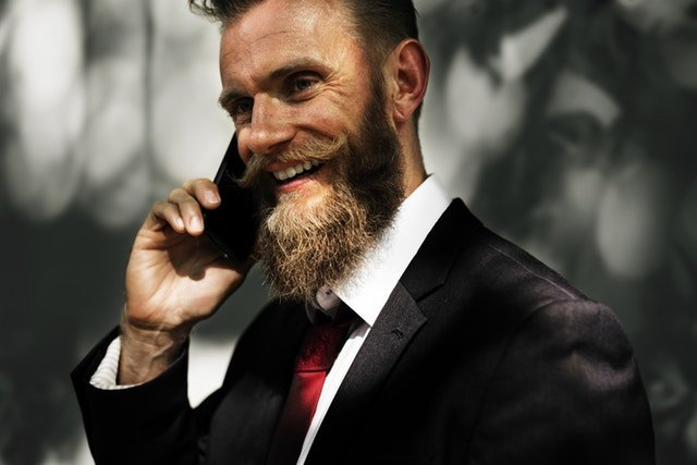 Man making call with his phone