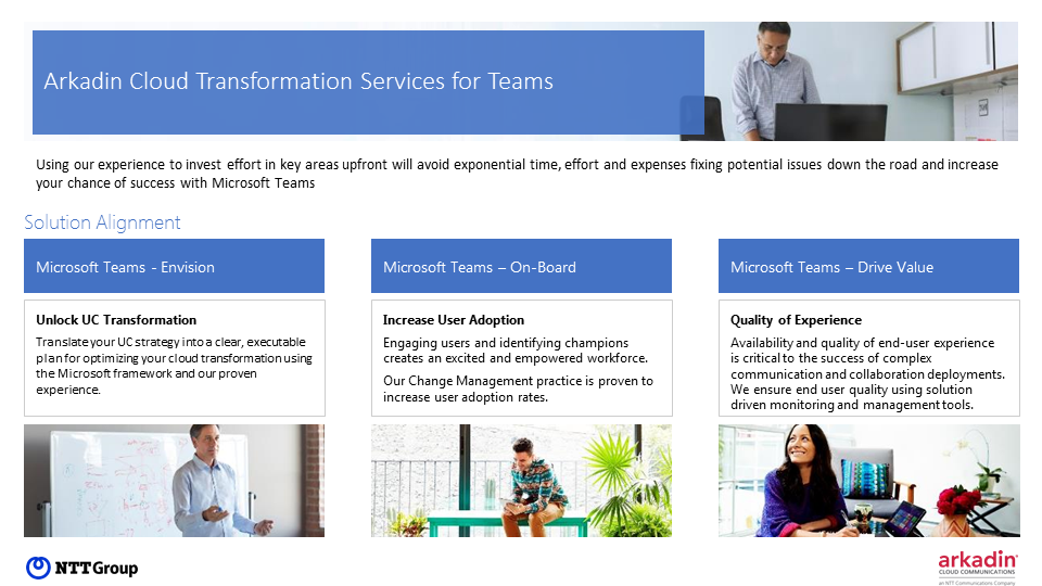 Implement Microsoft Teams with Arkadin Cloud Transformation Services for Teams