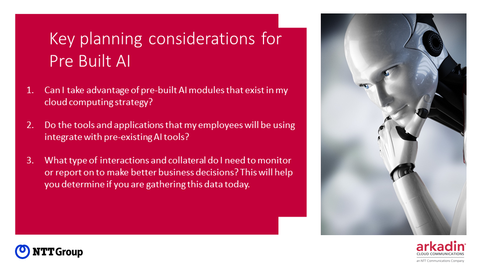 Key planning considerations for pre-built AI