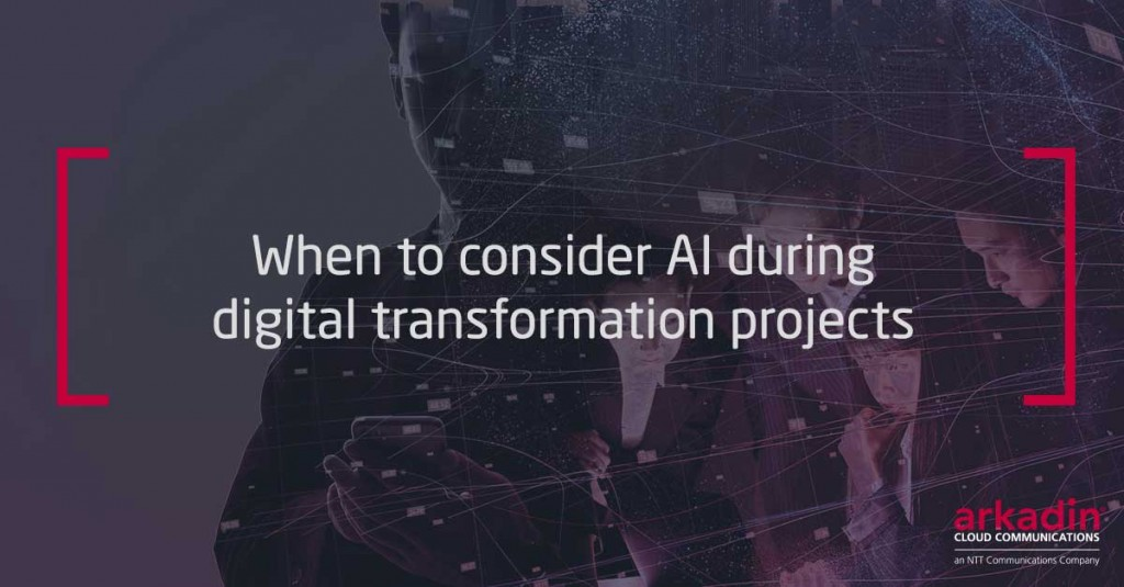 When to consider AI during digital transformation