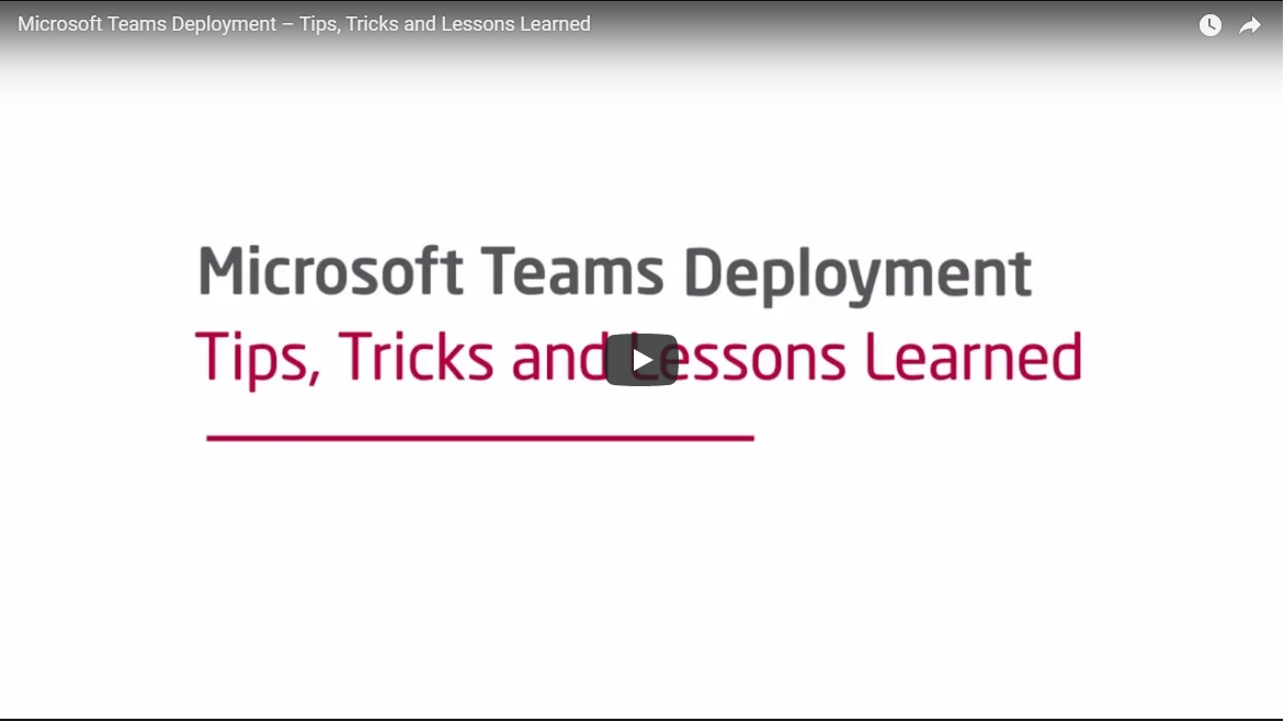 Microsoft Teams Deployment Tips, Tricks and Lessons learned YouTube