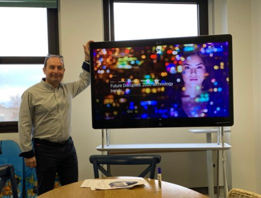 Nicolas Coudret and his Webex Board