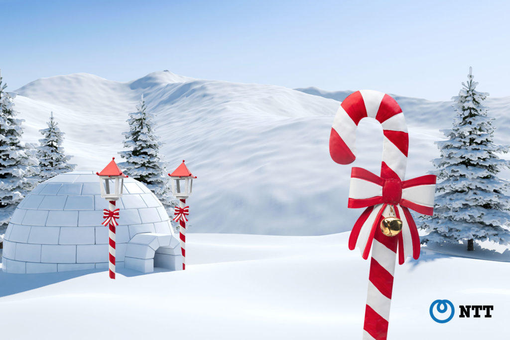 North Pole scene for Microsoft Teams and Webex Meetings