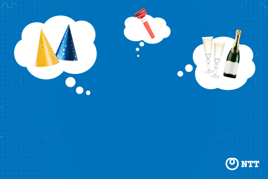 Festive thoughts background for Microsoft Teams and Webex Meetings